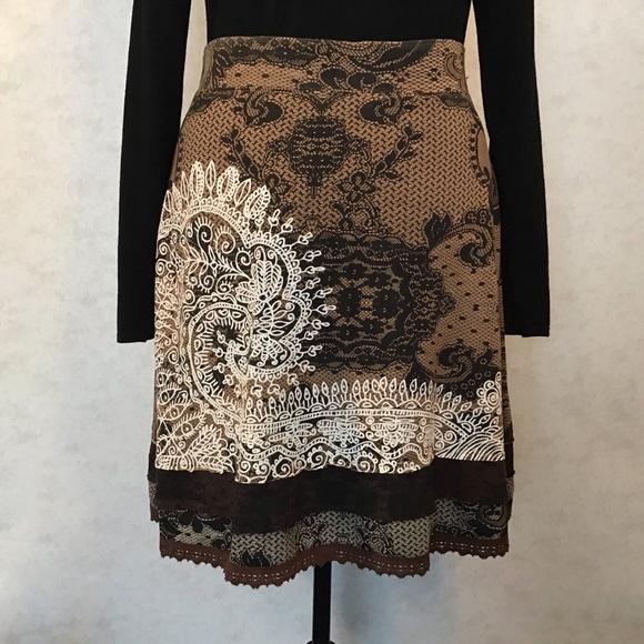 Desigual XL Tisdale Jersey Skirt in Cognac
